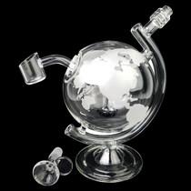 """8"""" World Globe Rig - with 14M Bowl & 4mm Banger (MSRP $100.00)"""