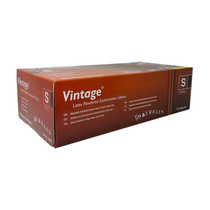 Vintage Latex Gloves - Powdered Disposable Latex Gloves 100pc Pack - 10ct Case (MSRP $10.00ea)