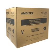 Ambitex Latex Gloves - Powder Free Disposable Vinyl Gloves 100pc Pack - 10ct Case (MSRP $10.00ea)