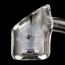 On Point Glass - *Limited Edition* Etched Slant Cut Quartz Banger - 14M - 90 Degree (MSRP $35.00)