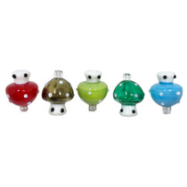 Assorted Color Soft Glass Carb Cap - 5 Pack (MSRP $10.00ea)
