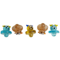 Glow In The Dark Assorted Color Carb Cap - Owl Hoot - 5 Pack (MSRP $10.00)
