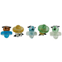 Glow In The Dark Assorted Color Carb Cap - Owl 2 - 5 Pack (MSRP $10.00ea)