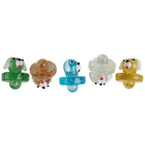 Glow In The Dark Assorted Color Carb Cap - Dog - 5 Pack (MSRP $10.00ea)