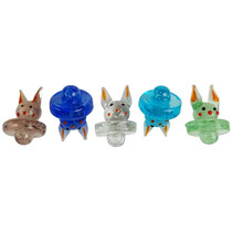 Glow In The Dark Assorted Colors Carb Cap - Bunny - 5 Pack (MSRP $10.00ea)