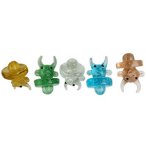 Glow In The Dark Assorted Color Carb Cap - Devil Duck - 5 Pack (MSRP $10.00ea)