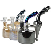 "8"" High Gloss Side Recycler Bubbler Water Pipe - with 14M Bowl & 4mm Banger (MSRP $65.00)"