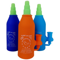 """6"""" Silicone Siracha Sauce Water Pipe - with 4mm 14M Banger (MSRP $40.00)"""