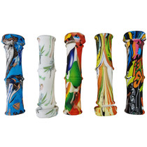 """4"""" Silicone Water Transfer Bamboo Nectar Pipe with Titanium Tip - 5 Pack (MSRP $30.00ea)"""