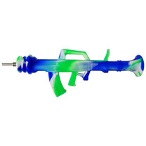 """9.5"""" Large Silicone Gun Nectar Pipe - with Titanium Tip - 5 Pack (MSRP $30.00ea)"""