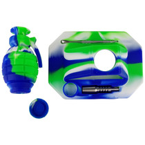 Silicone Grenade NC Stand Set with 14mm Tip and Dabber (MSRP $40.00)