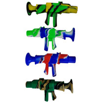"9"" Silicone Mixed Color Machine Gun Nectar Pipe with Tip (MSRP $30.00)"