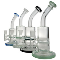 """8"""" Color Rim Honeycomb Water Pipe - with 14M Bowl & 4mm Banger (MSRP $50.00)"""