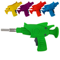"""8"""" Silicone Assorted Color Ray Gun Nectar Pipe with Tip  (MSRP $25.00)"""