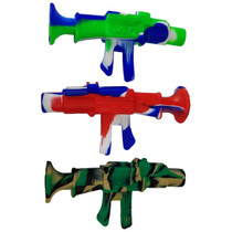 "9"" Silicone Mixed Color Machine Gun Nectar Pipe with Titanium Tip (MSRP $35.00)"