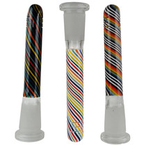 """3.5"""" USA Color Stripe Work Down Stem 14F - Clear Frosted Joint (MSRP $20.00)"""
