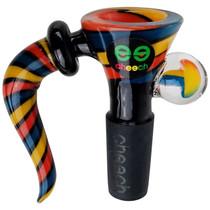 Cheech Glass - Single Horn Color Stripe Bowl 14M (MSRP $32.00)