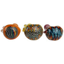 """4.5"""" USA Color Line Work Head Spoon Hand Pipe (MSRP $60.00)"""