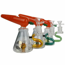 "On Point Glass - 6"" Carrot Top Banger Hanger Water Pipe - with 14M Bowl & 4mm Banger (MSRP $100.00)"