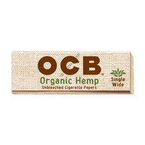 OCB - Hemp Rolling Papers Single Wide (50ct) - Display of 24 (MSRP $1.25ea)