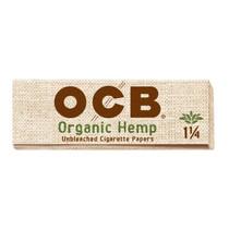 OCB - Hemp Rolling Papers 1¼ (50ct) - Display of 24 (MSRP $1.25ea)