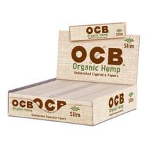 OCB - Hemp Rolling Papers King Size Slim (32ct) - Display of 24 (MSRP $1.25ea)