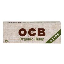 OCB - Hemp Rolling Papers 1¼ + Tips (50ct) - Display of 24 (MSRP $2.25ea)