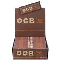 OCB - Virgin Rolling Papers Single Wide (50ct) - Display of 24 (MSRP $1.25ea)