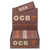 OCB - Virgin Rolling Papers 1¼ (50ct) - Display of 24 (MSRP $1.25ea)