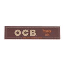 OCB - Virgin Rolling Papers King Size Slim (32ct) - Display of 24 (MSRP $1.25ea)