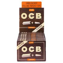 OCB - Virgin Rolling Papers 1¼ + Tips (50ct) - Display of 24 (MSRP $2.25ea)