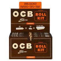 OCB - Virgin Rolling Papers King Size Slim (32ct) Roll Kit - Display of 20 (MSRP $2.75)
