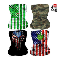 All American Neck Gaiter Combo (4 For $40) By StonerDays *Drop Ship* (MSRP $19.99 Each)