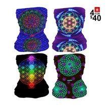 Mandala Neck Gaiter Combo (4 For $40) By StonerDays *Drop Ship* (MSRP $19.99 Each)
