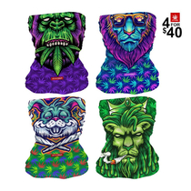 Philly Blunts Neck Gaiter Combo (4 For $40) By StonerDays *Drop Ship* (MSRP $19.99 Each)