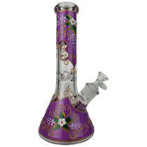 "13"" Outer Art Design Beaker Water Pipe - with 14M Bowl (MSRP $125.00)"