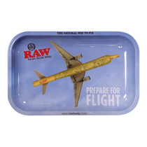 RAW® - Metal Rolling Tray Prepare For Flight - Small (MSRP $15.00)