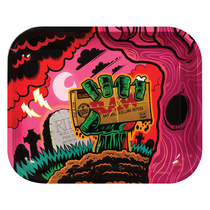 RAW® -  Metal Rolling Tray Zombie Themed - Large (MSRP $20.00)