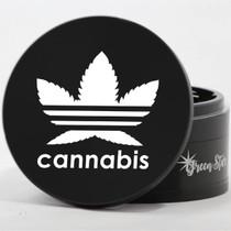 "4 Piece 4"" Cannabis Design Aluminum Jumbo Grinders By Green Star *Drop Ship* (MSRP $59.99)"