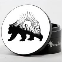 "4 Piece 4"" Bear Mountain Design Aluminum Jumbo Grinders By Green Star *Drop Ship* (MSRP $59.99)"