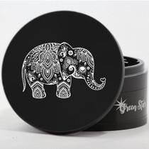 "4 Piece 4"" Elephant Design Aluminum Jumbo Grinders By Green Star *Drop Ship* (MSRP $59.99)"