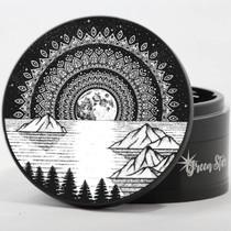 "4 Piece 4"" Mountain Mandala Design Aluminum Jumbo Grinders By Green Star *Drop Ship* (MSRP $59.99)"