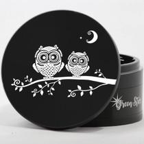 "4 Piece 4"" Double Owl Design Aluminum Jumbo Grinders By Green Star *Drop Ship* (MSRP $59.99)"