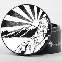 "4 Piece 4"" Rising Sun Mountain Design Aluminum Jumbo Grinders By Green Star *Drop Ship* (MSRP $59.99)"