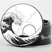 "4 Piece 4"" Tsunami Wave Design Aluminum Jumbo Grinders By Green Star *Drop Ship* (MSRP $59.99)"