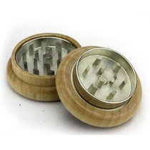 "2 Piece 2"" Wooden Herb Grinder By Green Star *Drop Ship* (MSRP $9.99)"