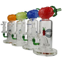 "On Point Glass - 7"" Pineapple Head Banger Hanger Water Pipe - with 14M Bowl & 4mm Banger (MSRP $85.00)"