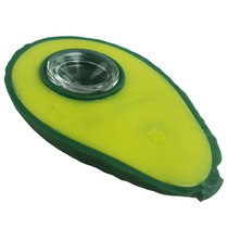 """3.5"""" Silicone Avocado Spoon Hand Pipe (MSRP $25.00)"""