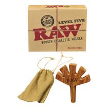 RAW® - Level Five Wooden Cig Holder (MSRP $20.00)
