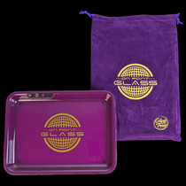 "On Point Glass 11""x 8.25"" - Light Up LED Rolling Tray (MSRP $50.00)"